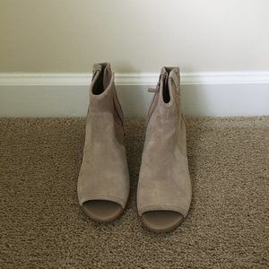 Crown Vintage Grey Suede Ankle Booties Size 9